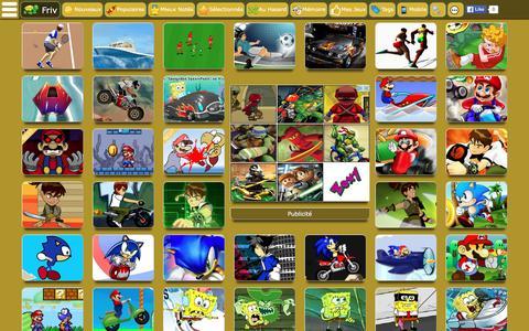 Screenshot of Home Page jeux-de-friv.org - Friv - Jeux de Friv - captured April 23, 2016