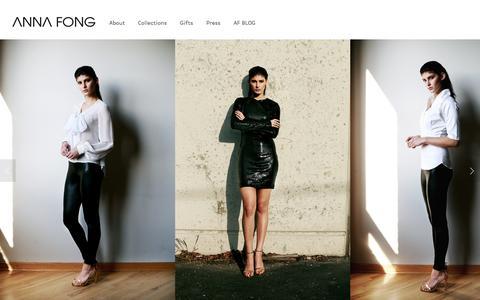 Screenshot of Home Page anna-fong.com - Anna Fong Studio - captured July 25, 2016
