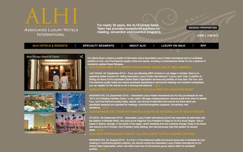 Screenshot of Press Page alhi.com - Associated Luxury Hotels International   ALHI Media Room - captured Oct. 4, 2014