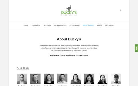 Screenshot of About Page duckys.com - About Ducky's — Ducky's Office Furniture - captured Nov. 24, 2016