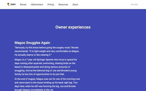 Screenshot of Testimonials Page goherogo.com - GoHero - captured Sept. 25, 2018