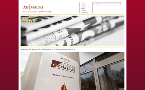 Screenshot of Press Page abmauri.com - AB MAURI | Global Expertise, Local Knowledge | We Know Baking! - captured Nov. 19, 2016