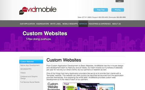 Screenshot of Services Page avidmobile.com - AvidMobile | Mobile Marketing Custom Websites - captured Sept. 23, 2014