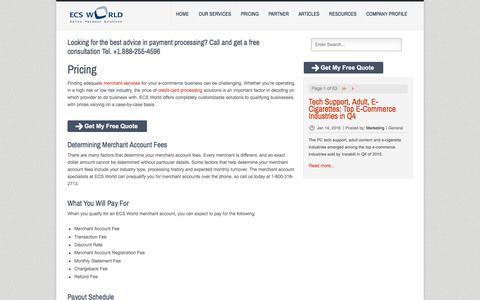 Screenshot of Pricing Page ecs-world.com - ECS World - Merchant Account Pricing - captured Sept. 19, 2017