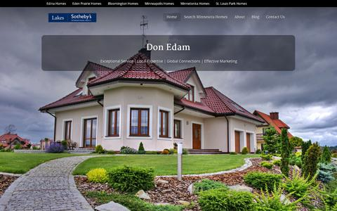 Screenshot of Home Page donedam.com - The Don Edam Group | Real Estate Professionals Serving Minneapolis, St. Paul, and the Surrounding Suburbs - captured Oct. 9, 2014