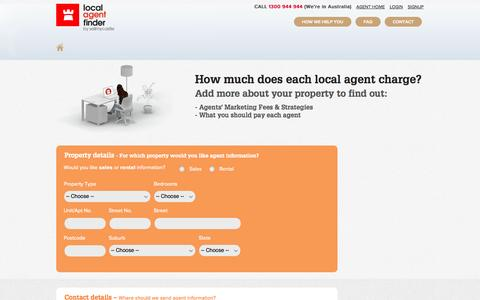 Screenshot of Signup Page sellmycastle.com.au - Free Detailed Real Estate Agent Report | Sell My Castle | sellmycastle.com.au - captured Sept. 19, 2014