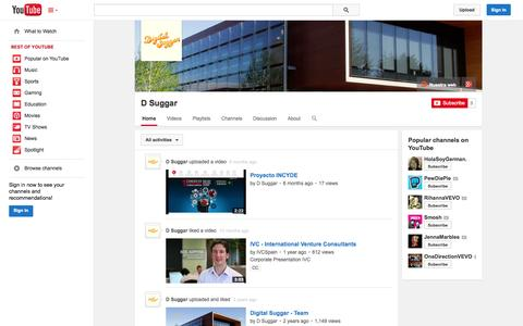Screenshot of YouTube Page youtube.com - D Suggar  - YouTube - captured Oct. 23, 2014