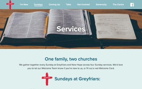 Screenshot of Services Page greyfriars.org.uk - Services - Greyfriars - captured Nov. 16, 2016