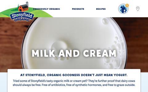 Organic Milk & Cream | Stonyfield