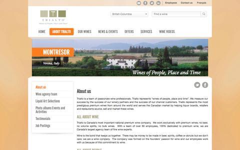 Screenshot of About Page trialto.com - About us - Trialto - captured Nov. 5, 2014