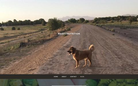 Screenshot of Blog maxfitnutrition.com - Blog – MAXFITNutrition - captured Sept. 20, 2018