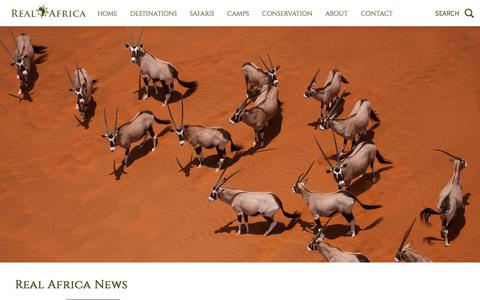 Screenshot of Press Page realafrica.co.uk - African Safari, Tailor Made Holidays - captured July 13, 2018