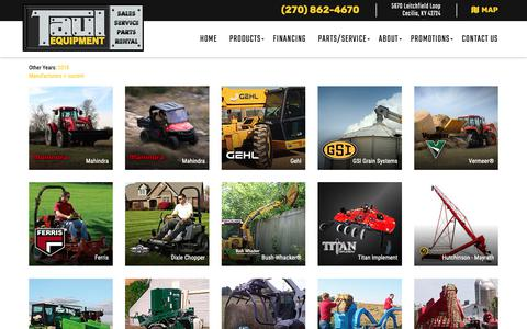Screenshot of Products Page taulequipment.com - Inventory Showroom | Taul Equipment | Cecilia Kentucky - captured Nov. 1, 2018