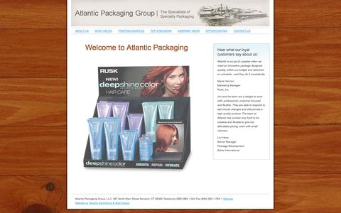 Screenshot of Home Page atlanticpackaginggroup.com - Atlantic Packaging Group | Custom Packaging, Plastic and Corrugated Packaging | Connecticut Printer- New York - Boston - captured Sept. 30, 2014