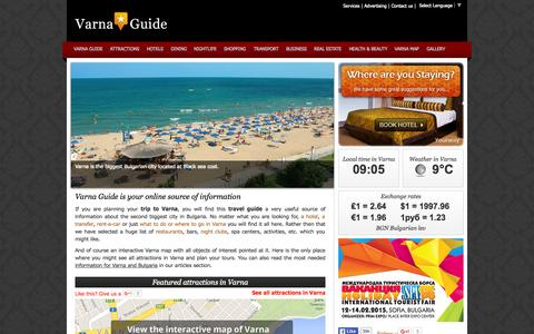 Screenshot of Home Page varna-guide.com - Varna Guide | Travel Guide Varna City | Varna Guide - captured Oct. 13, 2015