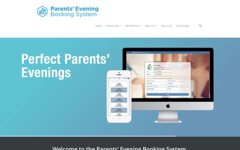 Screenshot of Home Page parents-booking.com - Software for Schools - Parents' Evening Booking System - captured Oct. 2, 2014