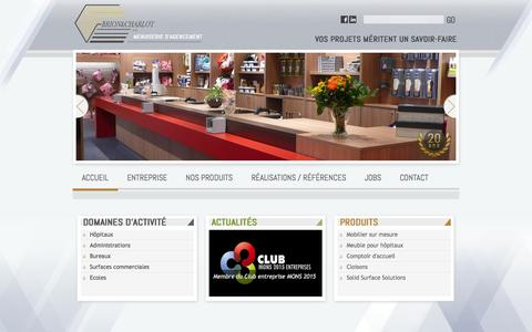 Screenshot of Home Page brionetcharlot.be - Accueil-brionetcharlot.be - captured Oct. 5, 2014