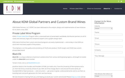 Screenshot of About Page kdmglobalpartners.com - Information About KDM Global Partners   KDM Global Partners - captured June 8, 2017