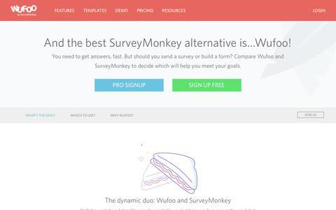 SurveyMonkey Alternative for Dynamic Online Forms   Wufoo