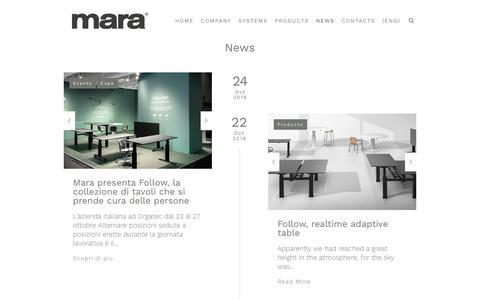 Screenshot of Press Page marasrl.it - News - Mara Srl - captured Nov. 15, 2018