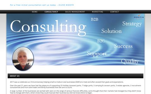 Screenshot of About Page positivdevelopment.co.uk - Consultancy | Positiv Development - Working with SME and family businesses for over 20 years - captured Aug. 14, 2017