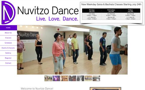 Screenshot of FAQ Page nuvitzodance.com - Salsa Hamilton | Bachata Hamilton | Dance Hamilton - captured Aug. 16, 2015