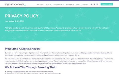 Privacy Policy » Digital Shadows