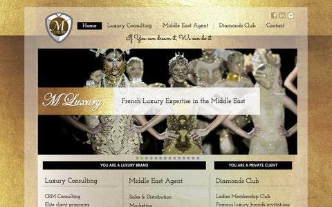 Screenshot of Home Page mluxurygroup.com - HOME - captured Oct. 4, 2014