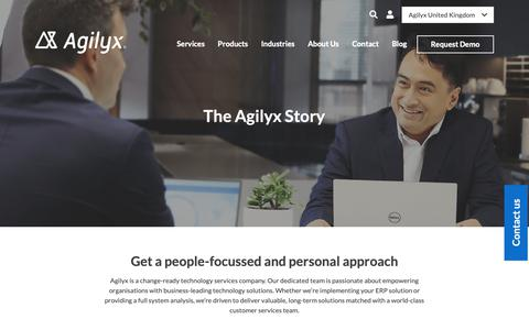 Screenshot of About Page agilyxgroup.com - About Us | Change-ready Implementation Services | Agilyx UK - captured Oct. 20, 2018