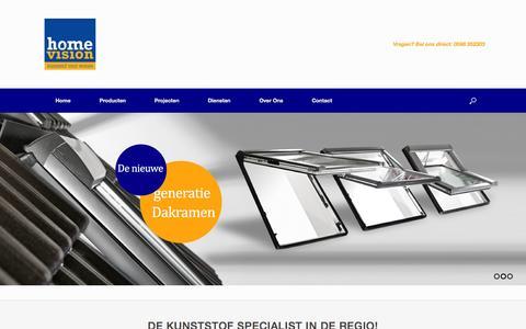 Screenshot of Home Page home-vision.nl - Kunststof Kozijnen - Home Vision - captured June 21, 2015