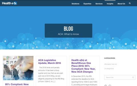 Screenshot of Blog healthefx.us - Blog | Health e(fx) - captured July 3, 2016