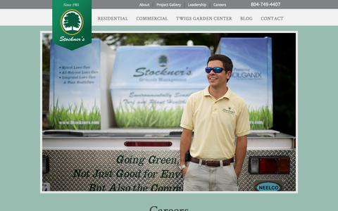 Screenshot of Jobs Page stockners.com - Careers | Stockner's Located in Richmond, Virginia - captured Sept. 30, 2014