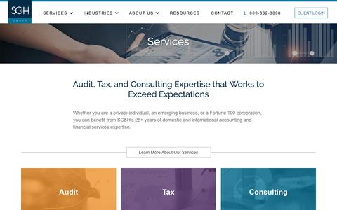 Financial Services & Accounting Firm - Our Expertise | SC&H Group