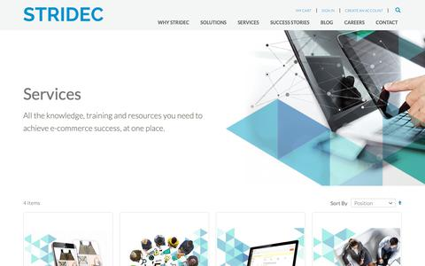 Screenshot of Services Page stridec.com - E commerce services | Ecommerce consultancy | Consultant e commerce - captured Oct. 20, 2018