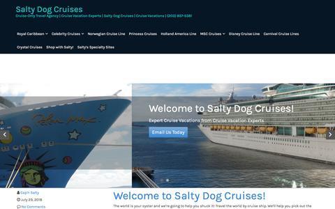 Screenshot of Contact Page saltydogcruises.com - Contact Us – Salty Dog Cruises - captured July 27, 2018