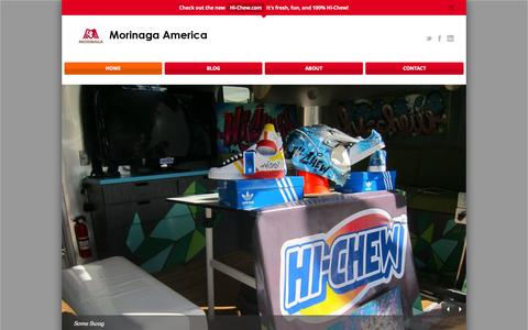 Screenshot of Home Page morinaga-america.com - Morinaga America - captured Jan. 10, 2016