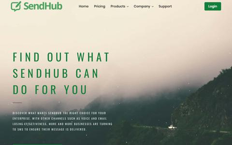 Screenshot of Contact Page sendhub.com - Contact Us | SendHub - captured Jan. 13, 2019