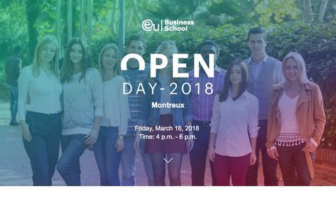 Screenshot of Landing Page euruni.edu - EU Business School - Spanish Language School in Barcelona - captured March 3, 2018