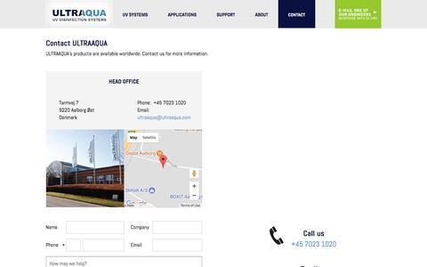 Screenshot of Contact Page ultraaqua.com - Contact - UltraAqua - captured Nov. 2, 2017