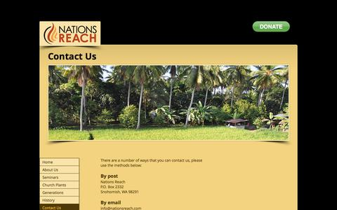 Screenshot of Contact Page nationsreach.com - nationsreach | Contact Us - captured June 11, 2017