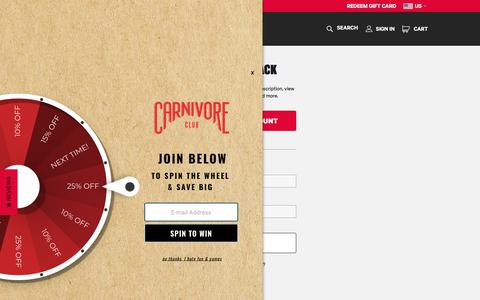 Screenshot of Login Page carnivoreclub.co - Welcome Back | Carnivore Club - captured July 16, 2018