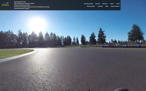 Screenshot of Home Page pacificgp.com - PGP | Motorsport Park | Seattle's Premier Karting Track - captured Sept. 30, 2015
