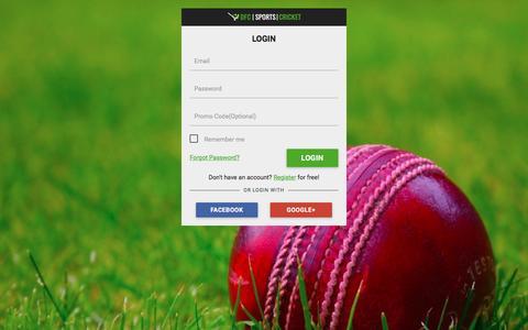 Screenshot of Privacy Page Login Page dailyfantasycricket.com - Daily Fantasy Cricket | Login - captured July 31, 2016