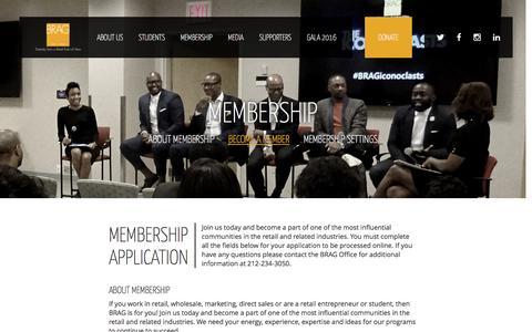 Screenshot of Signup Page bragusa.org - Become a Member - BRAG - captured Nov. 22, 2016