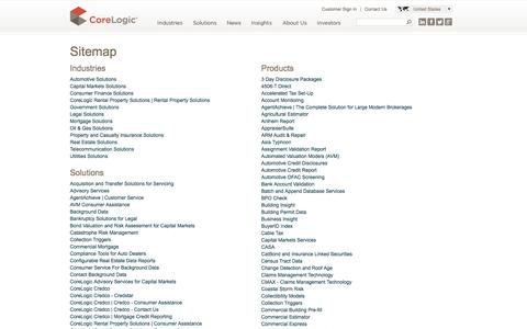 CoreLogic Site Map