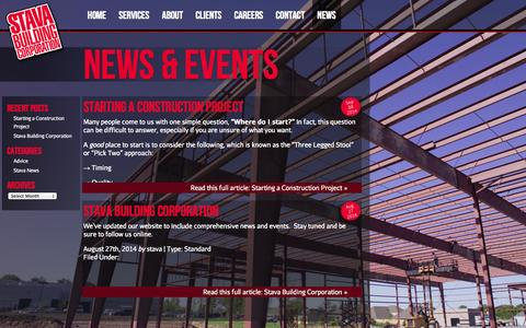 Screenshot of Press Page stava.com - Stava Building Corporation, Building Contractor for Oklahoma & Surrounding States - captured Oct. 9, 2014