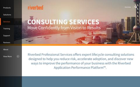 Screenshot of Services Page riverbed.com - Overview | Riverbed | US - captured July 3, 2016