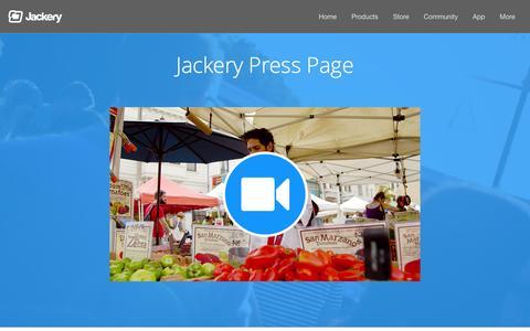 Screenshot of Press Page jackery.com - Press — Jackery - Empowering life on the go - captured Jan. 21, 2016