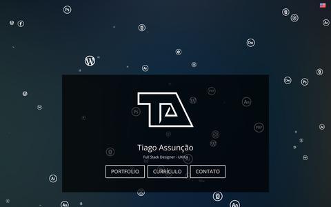 Screenshot of Home Page tiagoassuncao.com.br - Tiago Assunção | Full Stack Designer - UX/UI - captured Nov. 3, 2018