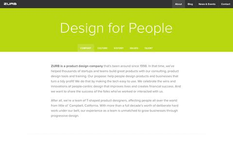 Screenshot of About Page zurb.com - ZURB — About Our Talented People - captured Oct. 26, 2014